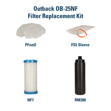 clear water Filter Replacement Kit for the Outback Plus OB-25NF