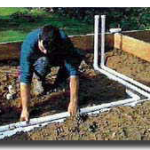 Laying the pipe work