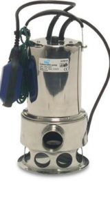 clear water Mega Stainless Steel Submersible Pump - External Float